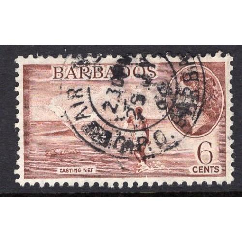 Barbados (1953-57) Sc# 240 (2) used; CV $0.75