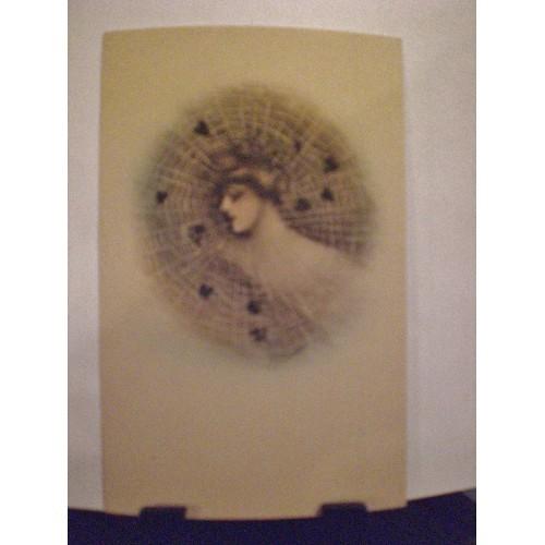 VINTAGE POSTCARD: #11 COBB SHINN ART LADY IN WEB