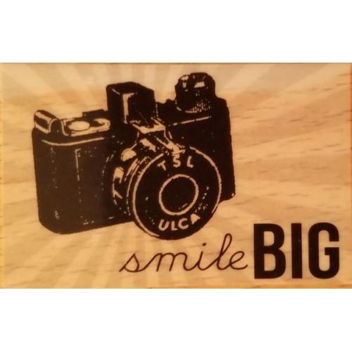 CAMERA SMILE BIG Rubber Stamp Studio G *