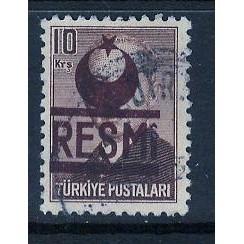 Turkey (1953) Sc# O19 used