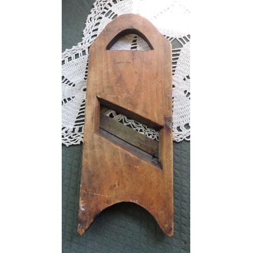 Antique Primitive Handmade Wood Cabbage Kraut Cutter Open Handled Kutter