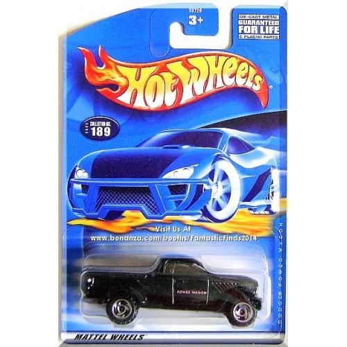 Hot Wheels - Dodge Power Wagon: Collector #189 (2001) *Black Edition*