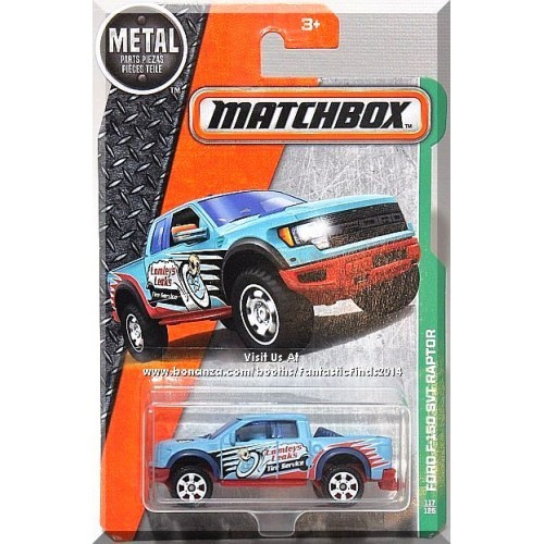 Matchbox - Ford F-150 SVT Raptor: MBX Explorers #117/125 (2016) *Blue Edition*