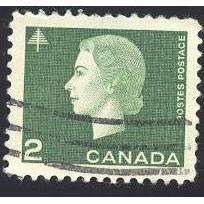 Canada 402 QE II Cameo 2c Green CV = 0.20$