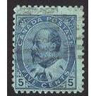 Canada 91 Edward VII 5c Blue CV = 4$