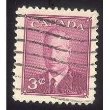 Canada 291 George VI 3c Rose violet Omitted CV = 0.20$