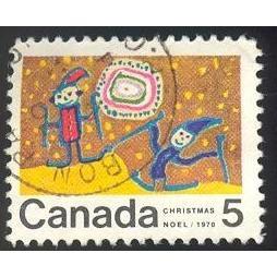 Canada 522 Christmas 1970 Skiing CV = 0.20$