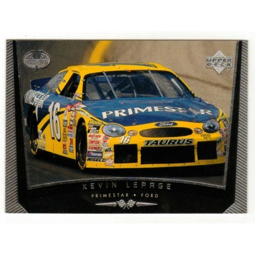 1999 Upper Deck Kevin LePage Auto Racing Card No. 62 – VF