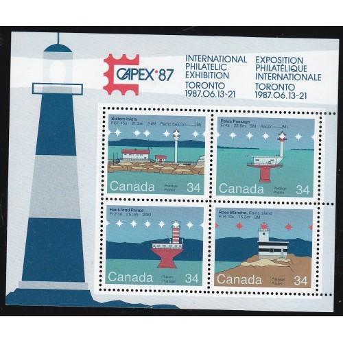 Canada 1066b Lighthouses Souvenir Sheet MINT CV = 1.75$