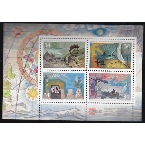 Canada 1107b Explorers SS MNH CV = 2$