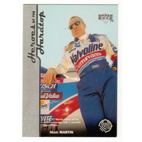 1997 Upper Deck Heroes Of The Hardtop Mark Martin Racing Card No. 5 - LN