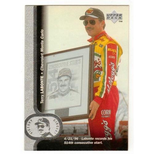 1996 Upper Deck Victory Circle Terry LaBonte Auto Racing Card No. 5 - LN