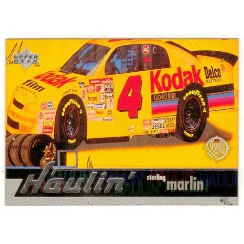 1997 Upper Deck Sterling Marlin Haulin Auto Racing Card No. 111 – VF