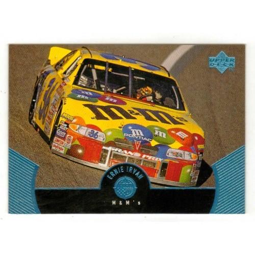 1999 Upper Deck Ernie Irvan Auto Racing Card No. 42 - VF+