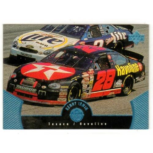 1999 Upper Deck Kenny Irwin Auto Racing Card No. 49 - VF+