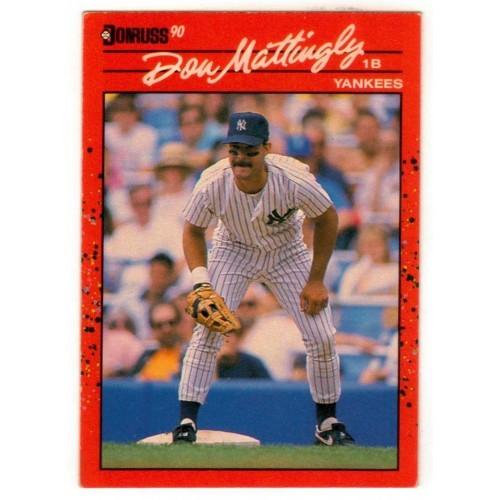 1990 Donruss  Don Mattingly Trading Card No. 190 - VF