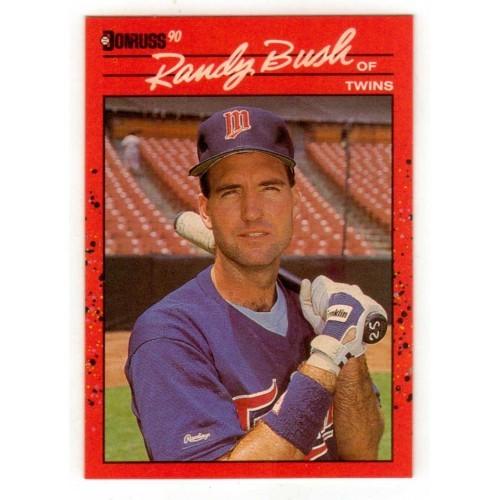 1990 Donruss  Randy Bush Trading Card No. 199 – NM