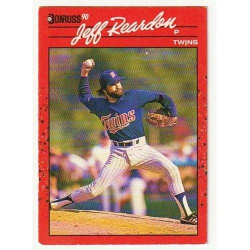 1990 Donruss  Jeff Reardon Trading Card No. 119 – FN