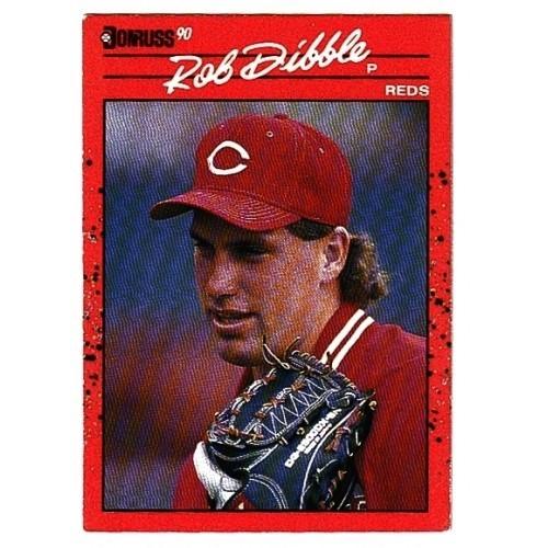 1990 Donruss Rob Dibble Trading Card No. 189 – VF