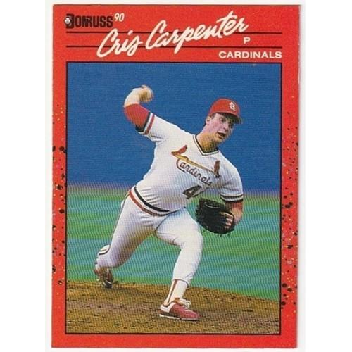 1990 Donruss Cris Carpenter Rookie Trading Card No. 634 – VF+