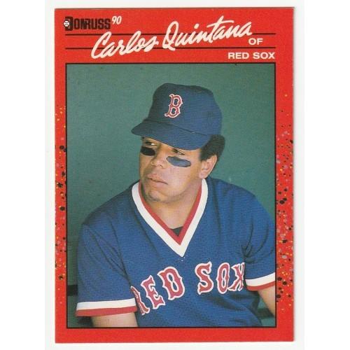 1990 Donruss Carlos Quintana Red Sox Rookie Trading Card No. 517 – VF