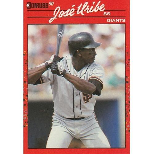 1990 Donruss Jose Uribe Trading Card No. 335 – NM