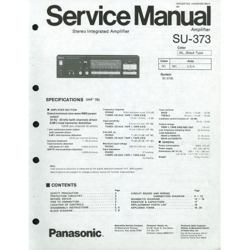 Panasonic -  SU-373 Amplifier - Service Manual