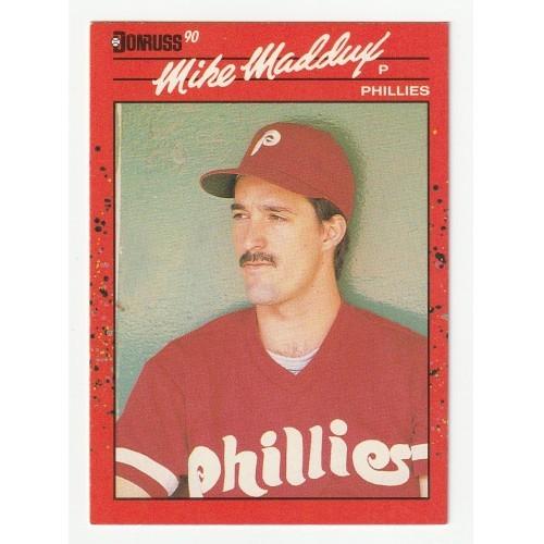 1990 Donruss Mike Maddux Trading Card No. 312 – VF+