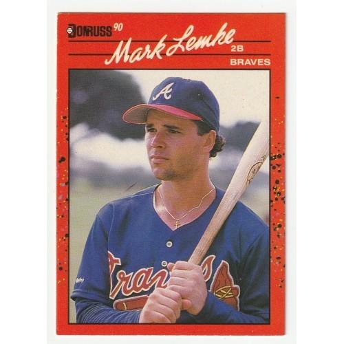 1990 Donruss Mark Lemke Braves Rookie Trading Card No. 624 – VF
