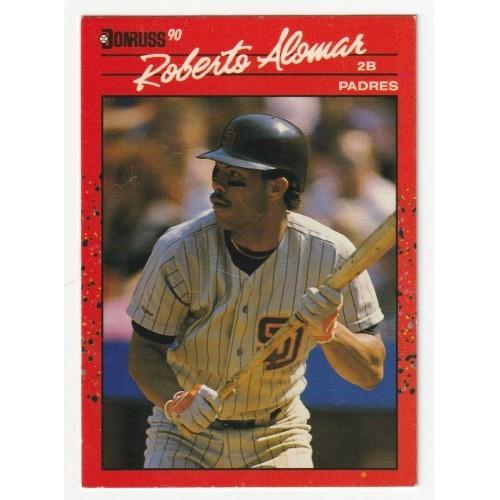 1990 Donruss Roberto Alomar Rookie Trading Card No. 111 – FN