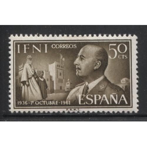 1961 Spanish Colonies IFNI  50 c. General Franco  mint*, Scott # 100