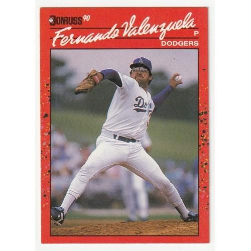 1990 Donruss Fernando Valenzuela Trading Card No. 625 – NM