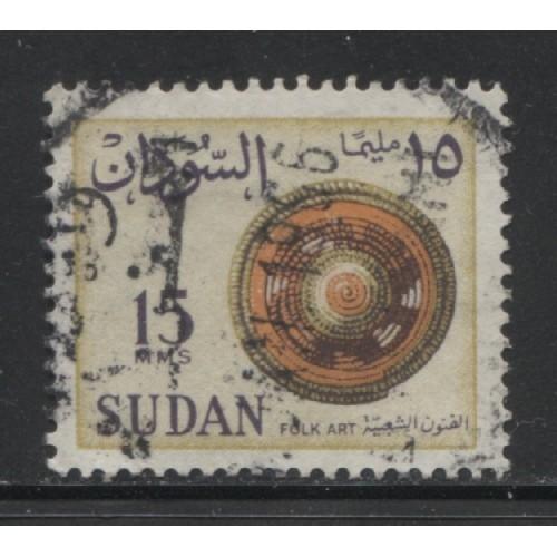 1962  SUDAN  15 m.  Folk Art  used,  Scott # 148