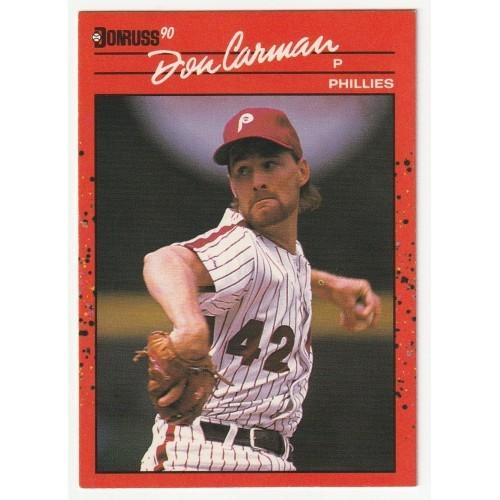 1990 Donruss Don Carman Trading Card No. 604 – VF