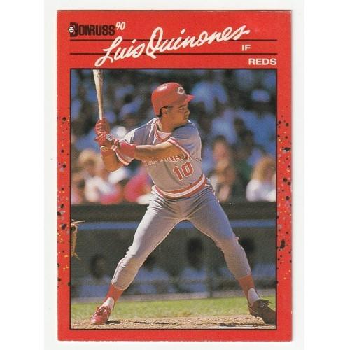 1990 Donruss Luis Quinones Trading Card No. 595 – VF