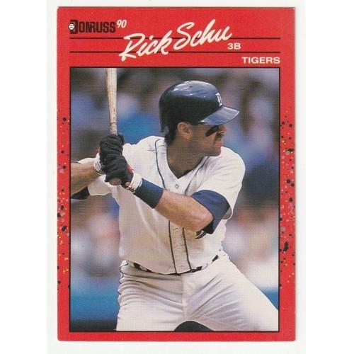 1990 Donruss Rick Schu Trading Card No. 599 – VF
