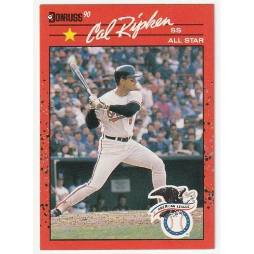 1990 Donruss Cal Ripken All Star Rookie Trading Card No. 676 – NM