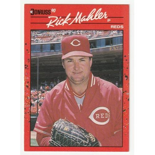1990 Donruss Rick Mahler Trading Card No. 375 – NM