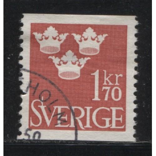 1951 SWEDEN   1.70 kr. Three Crowns  used, Scott # 426