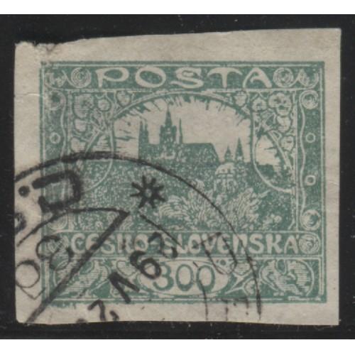 1919 Czechoslovakia  300 h.  Hradcany at Prague  used, Scott # 38