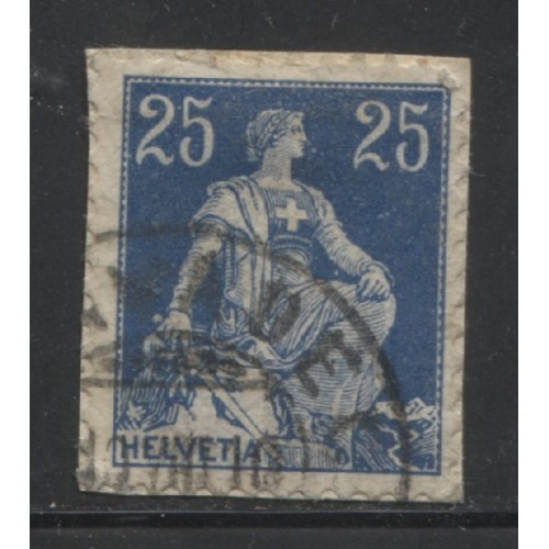 1908 SWITZERLAND  25 c. Helvetia  issue  used, Scott # 133