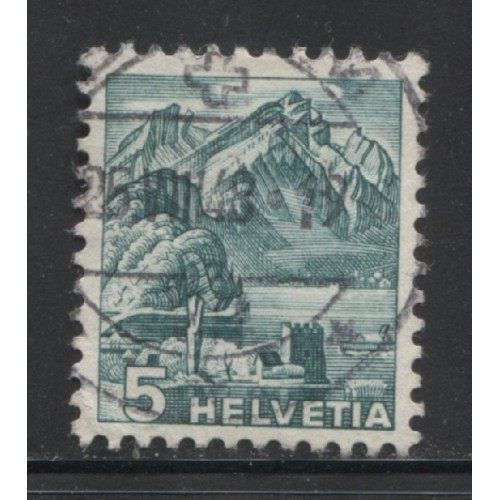 1936 SWITZERLAND  5 c. Mt. Pilatus used, Scott # 228