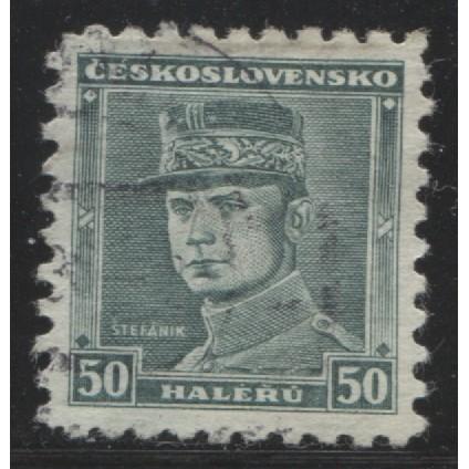 1935 Czechoslovakia  50 h.  Gen. Milan Stefanik  used, Scott # 208