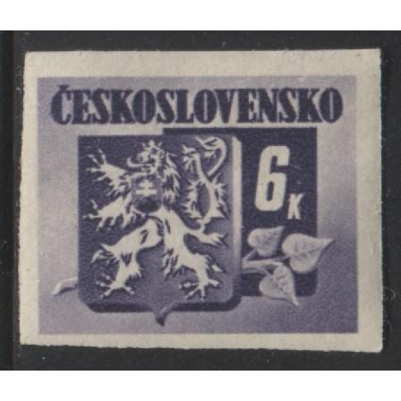 1945 Czechoslovakia  6 K.  Coat of Arms  mint*, Scott # 271