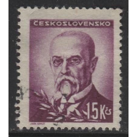 1945 Czechoslovakia  15 K.  President Masaryk  used, Scott # 304