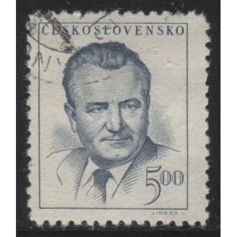 1948 Czechoslovakia  5 K.  President Klement Gottwald  used, Scott # 365