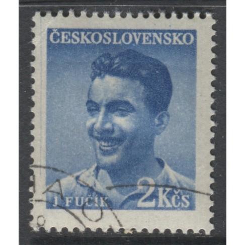 1949 Czechoslovakia  2 K.  Julius Ficik  used, Scott # 377