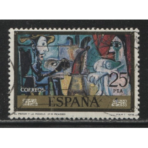 1978 SPAIN  25 Pts. Paintings by Pablo Picasso  used, Scott # 2115