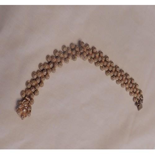 Vintage Gold Tone Cluster Bracelet