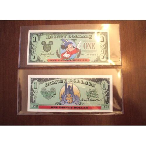 "1997 DISNEY DOLLAR - Mint Condition - Mickey Sorcerer - SERIES ""D"""